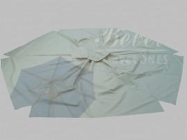 Capa Para Ombrelone de 3m de Diâm. com saquinhos e abas, varetas de 1,50m.
